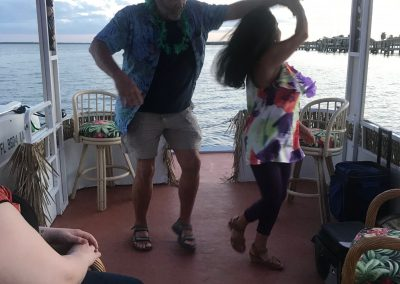 Dancing on the Tiki Boat